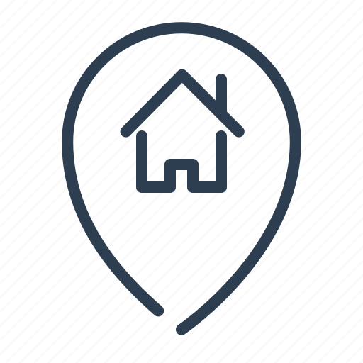 home, house, location, marker, pin, pointer icon