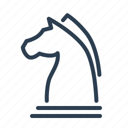 chess, figure, horse, management, marketing, planning, strategy icon