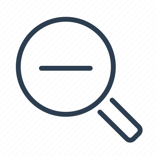 magnifier, magnifying, minimize, minus, out, search, zoom icon