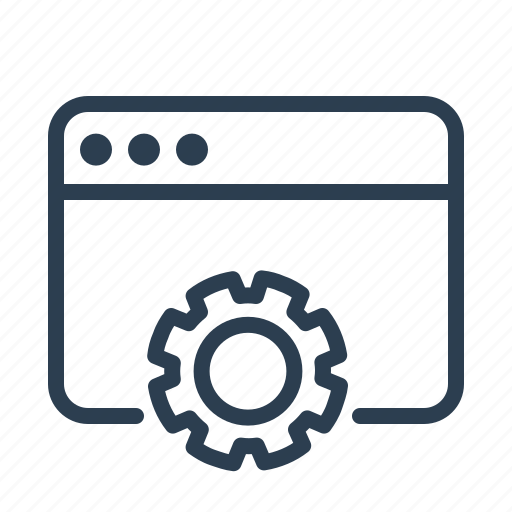 browser, development, gear, optimization, options, settings, website icon