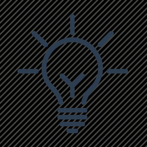 brain storming, creativity, electricity, fresh idea, lamp, light bulb, lightning icon