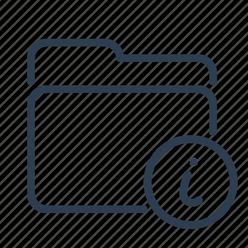 alert, documentation, folder, info, information, instructions, organized icon