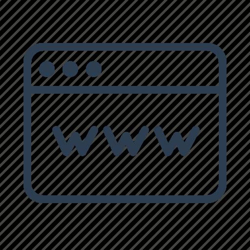 address, browser, internet, link, page, web, website icon