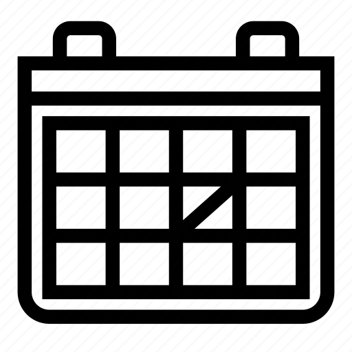 date, day, month, schedule, week icon