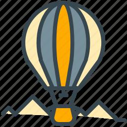 abroad, activity, air, balloon icon