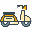 moped, scooter, transport, transportation, vehicle icon