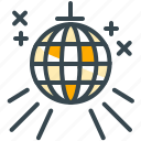 abroad, ball, dance, disco, entertainment, music, party icon