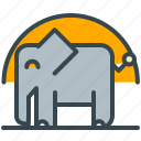 abroad, africa, elephant, holiday, safari icon