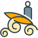 abroad, activity, board, sport, surfing, water icon