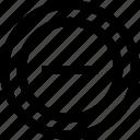 line, menu, negative, neutral, option icon