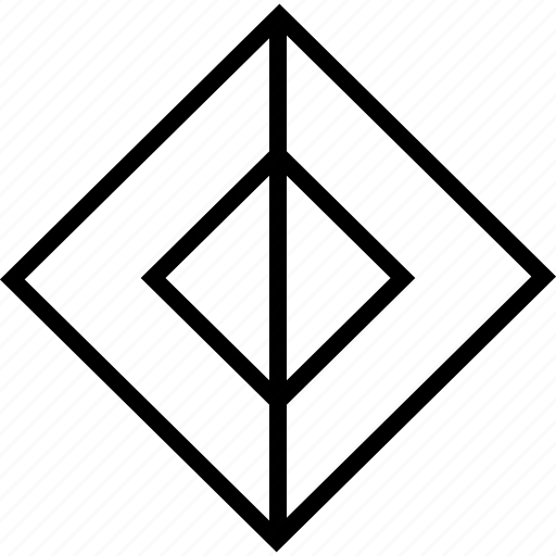 abstract, cube, lines, sign icon