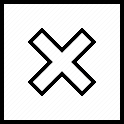 abstract, sign, stop, x icon