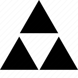 abstract, sign, three, triangles icon