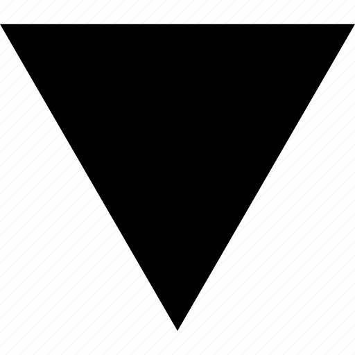 abstract, down, sign, triangle icon
