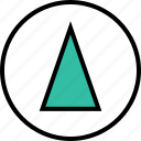 abstract, cone, design, high icon
