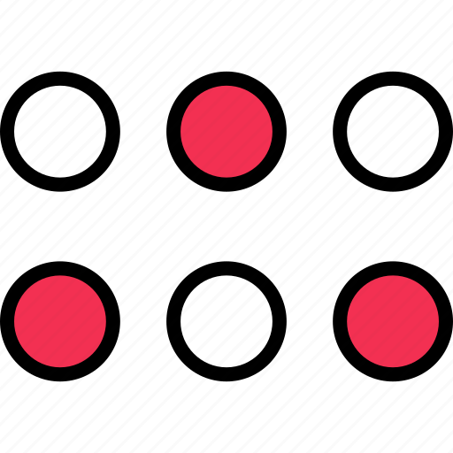abstract, design, dots icon