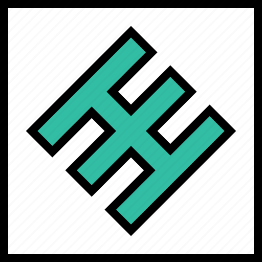 abstract, design, lines icon