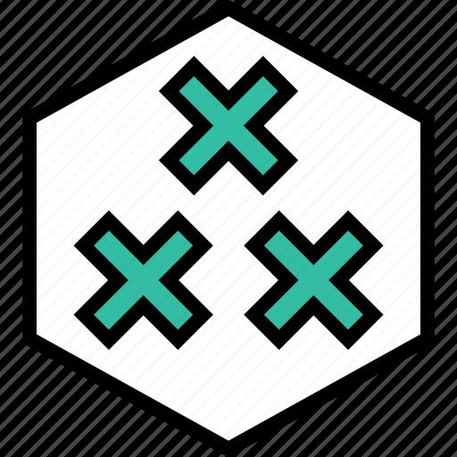 abstract, design, x icon