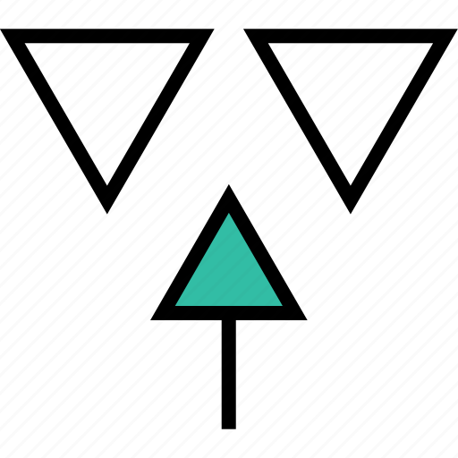 abstract, arrow, design, point icon