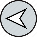 arrow, back, point icon