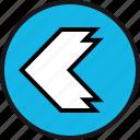 arrow, back, left, point