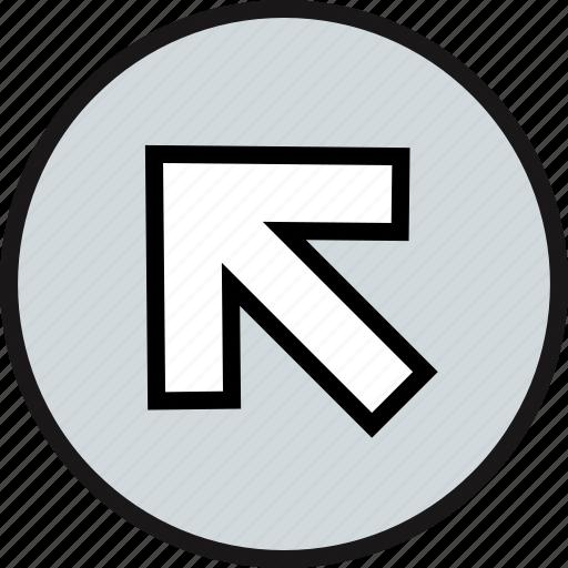 arrow, gps, high, point icon