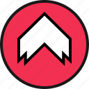 arrow, point, thick, up icon