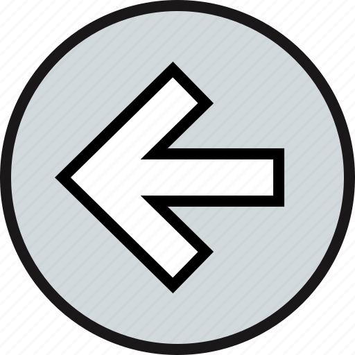 arrow, back, exit, point icon