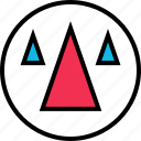 cones, shapes, triangles icon