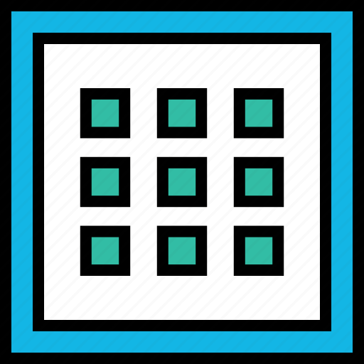 abstract, cube, dots icon