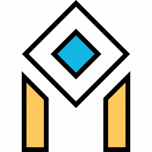 abstract, creative, cube, eye icon