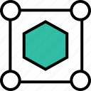 abstract, cube, design, hexagon icon