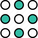 abstract, design, dots, multiple icon