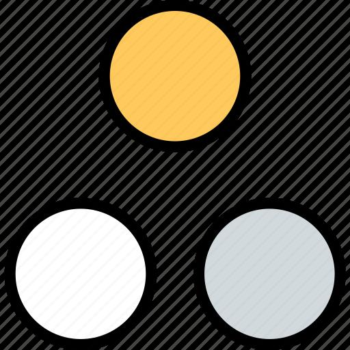 abstract, creative, dots, three icon