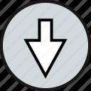 down, download, arrow