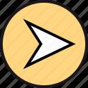 arrow, go, right