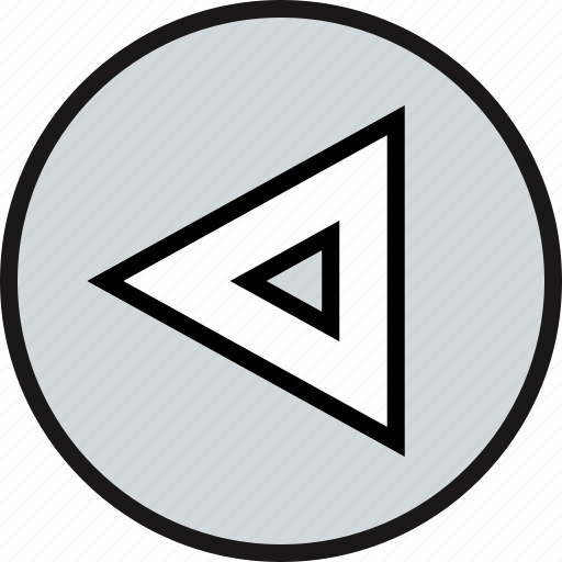 direction, exit, pointer, triangle icon