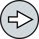 direction, go, next, pointer icon