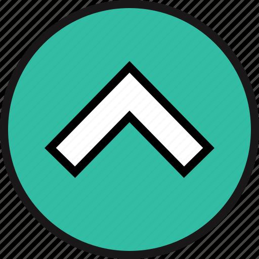 direction, pointer, upload icon