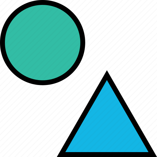 dot, shapes, triangle icon