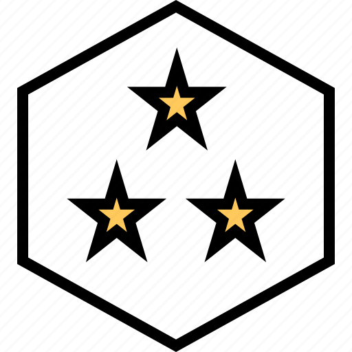 abstract, creative, stars, three icon