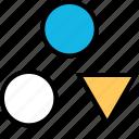 creative, dots, triangle