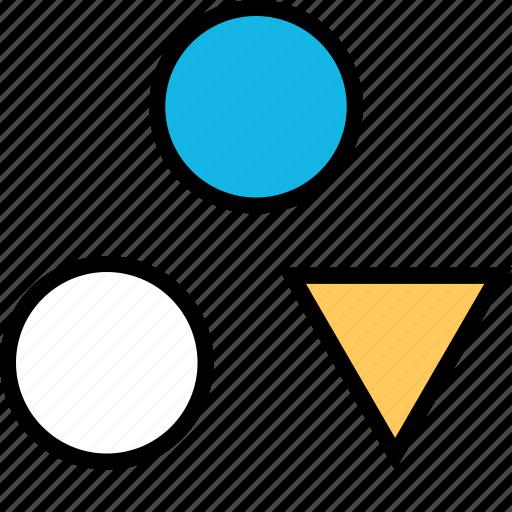creative, dots, triangle icon