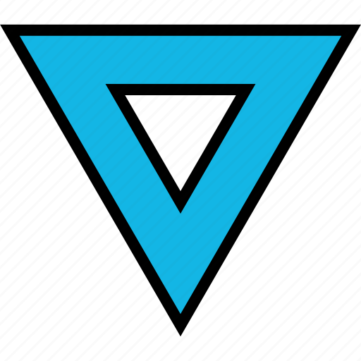 dot, point, triangle icon