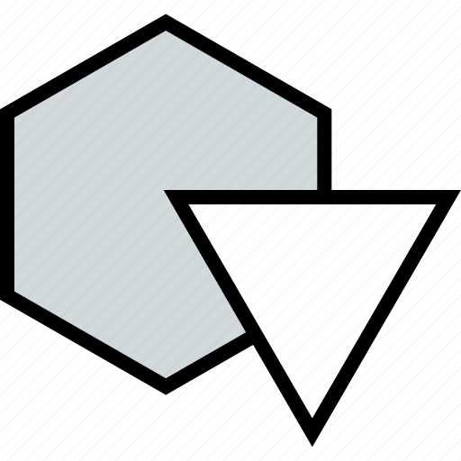 abstract, design, down, triangle icon