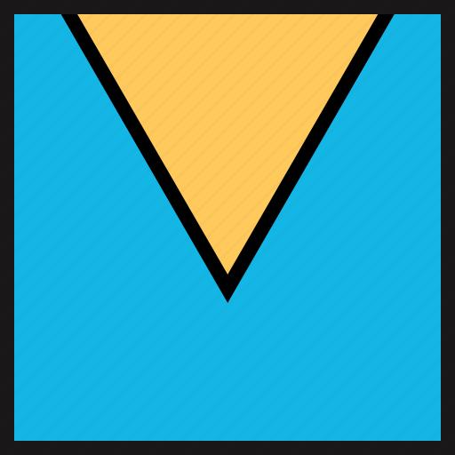 down, pointer, triangle icon
