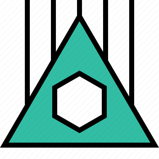 abstract, design, high, triangle icon