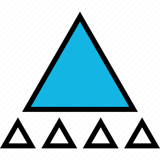 abstract, design, triangle, up icon