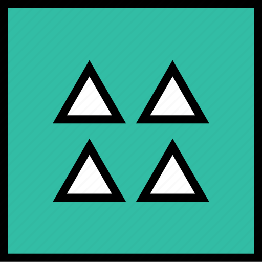 abstract, creative, triangles icon