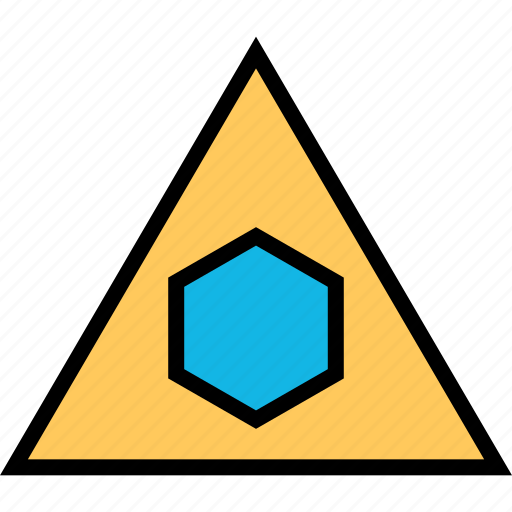 abstract, creative, hexagon, triangles icon